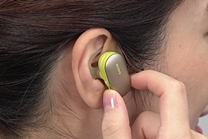 Button right headphone