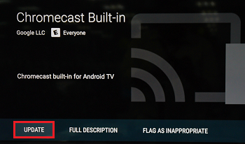 Update chromecast built-in