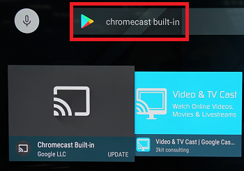 Search Chromecast built-in