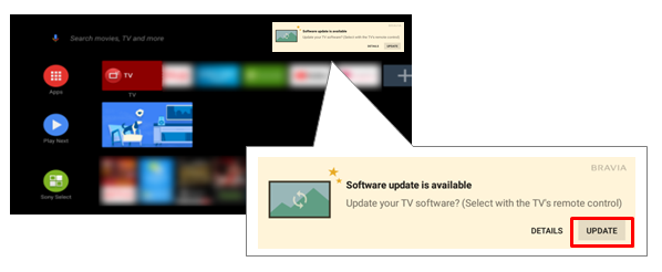 How do I perform Firmware/Software Updates for my Sony's Android TV