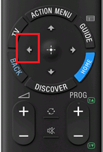 Left Button on IR Remote