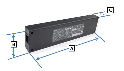 Ac Power adapter size
