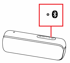 Bluetooth indicator status location on a speaker