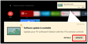 MASTER Series and G-Series TV Update Notification