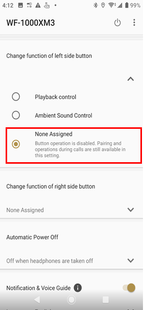 Headphones Connect - None Assigned