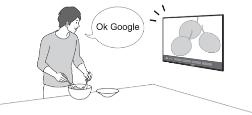 Using hands-free voice search (only for TVs with a built-in MIC) | Sony USA