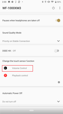 verifying settings change