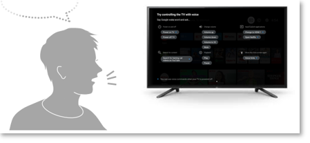 """Image for saying """"Voice hints"""" to the TV"""