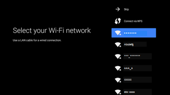 Select your Wi-Fi network
