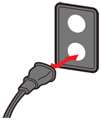 unplug power cord and then plug it back in