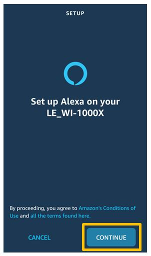 setup screen Alexa