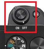 Image of a camera with power switch