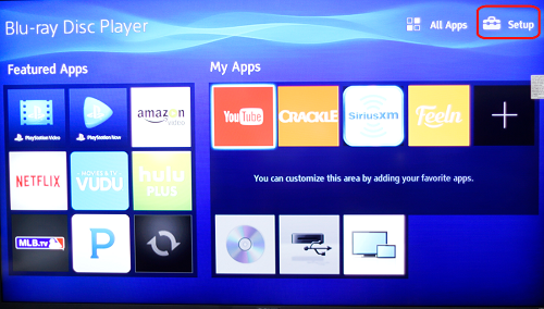 bluray disc menu for 2014 and 2015 models