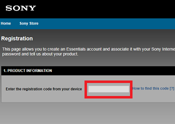 How to register the Internet video device on the Sony