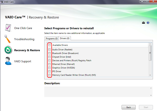 How to reinstall bundled applications or original drivers using
