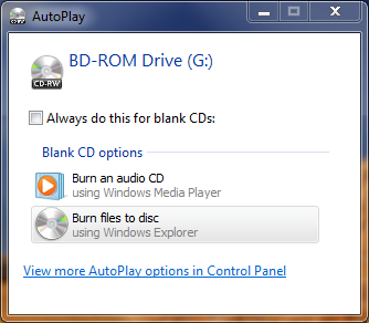 How to create, or burn, a Blu-ray Disc, DVD or CD disc using