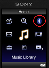 walkman bluetooth button