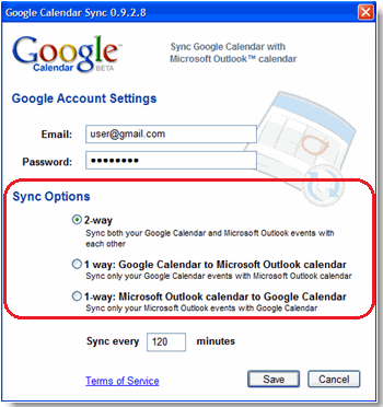 How to synchronize my Outlook calendar with my Google