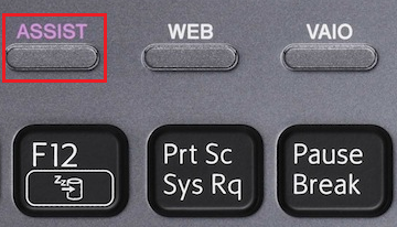 how to format sony vaio laptop with assist button