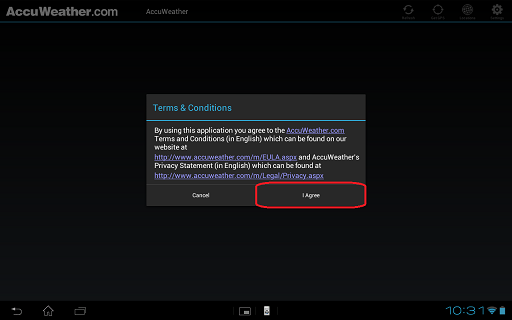 How to set up and use the Accuweather application  | Sony