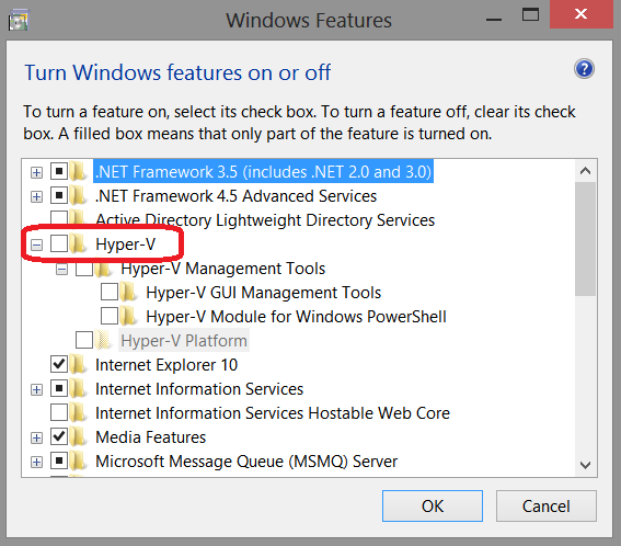 How to enable the Hyper-V feature in the computer  | Sony TH