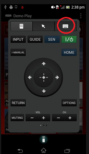 TV SideView Select Keyboard