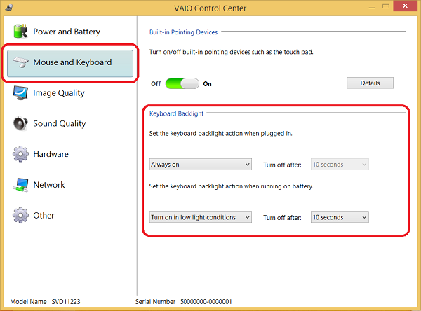 How To Enable Or Disable The Keyboard Backlight Feature Or Change When The Backlight Turns Off In Windows 8 And 8 1 Sony Middle East