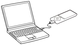 Connect supplied USB cable