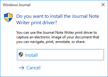 Install Print Driver?