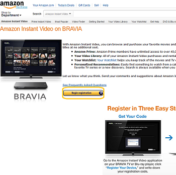 Amazon Begin Registration