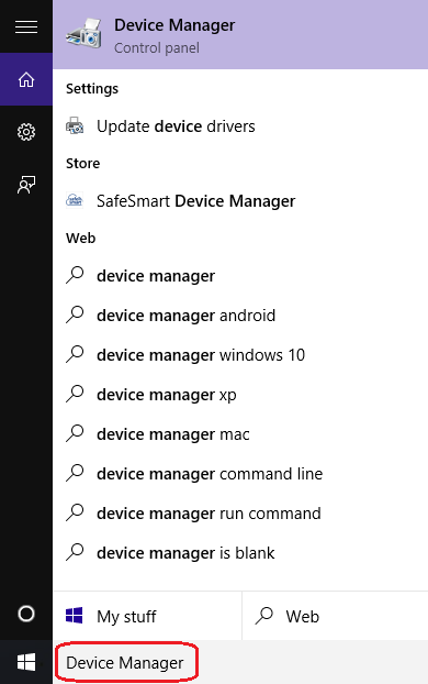 Search - Device Manager