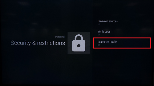 Restricted profile