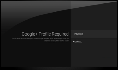 Google Profile Required