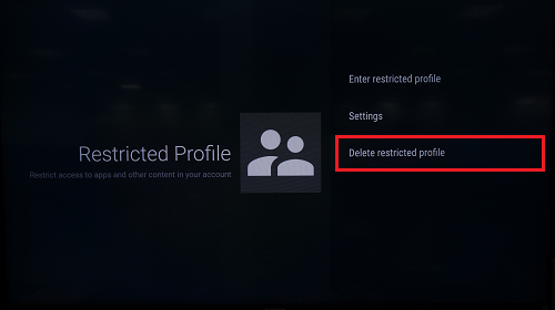 Delete restricted profile
