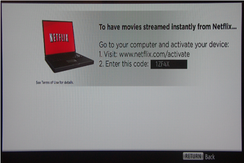 Netflix activation on Sony devices  | Sony Canada