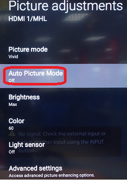 The Picture Mode of an Android TV Automatically Switches to