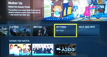 Hulu plus settings