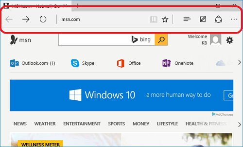How do I launch and use the Microsoft Edge browser  | Sony