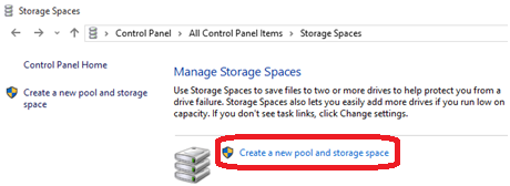 create new pool and storage devices