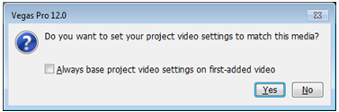 Do you want to set your project video settings to match this media?