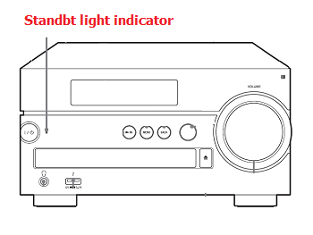 Standby light indicator of CMT-SX7