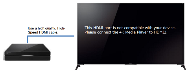 Wrong HDMI error