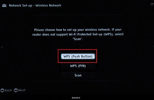 Use the WPS (Push Button) feature to connect to a wireless network