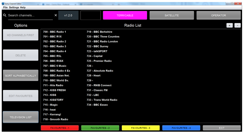 Figure 40: Radio stations displayed