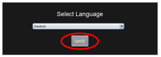 Figure 9: Saving language