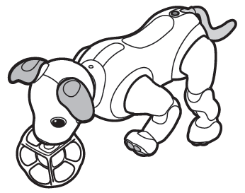 aibo playing with dice