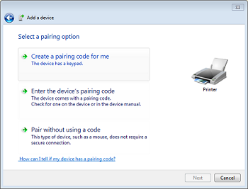 Add Device Window