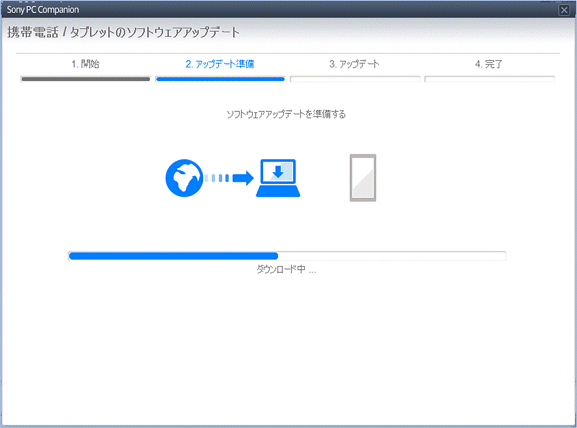 [Sony PC Companion]画面