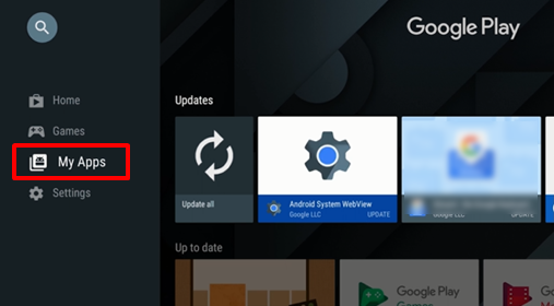 How do I uninstall applications on the Android TV™? | Sony TH