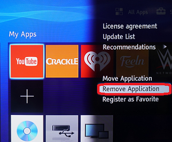Can I Add or Remove Apps from My Apps on the Blu-ray Disc